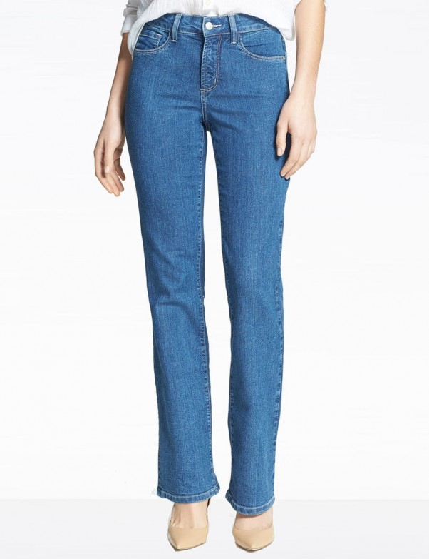 NYDJ - Barbara Bootcut Jeans in Maryland Wash with Embellished Pockets *P10232my3101