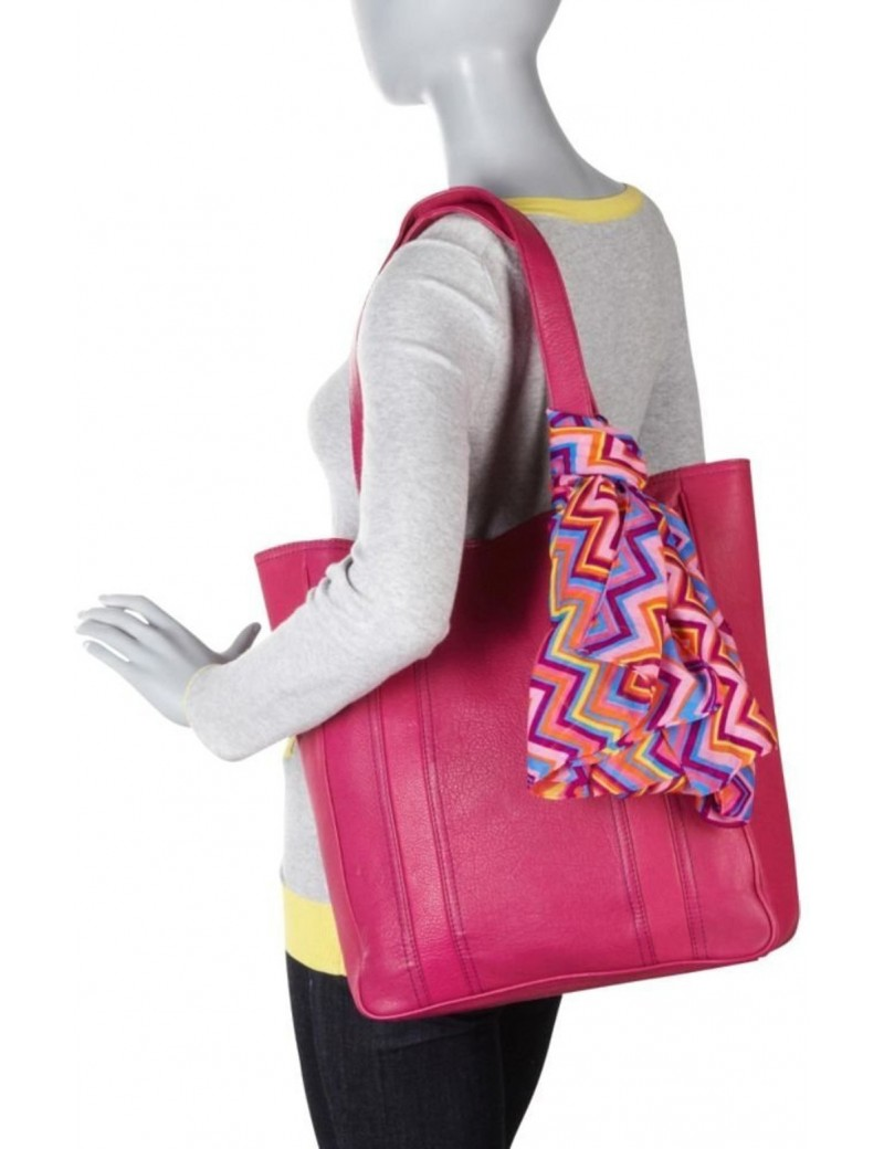 Hadaki - City Tote Bag in Fuschia Leather