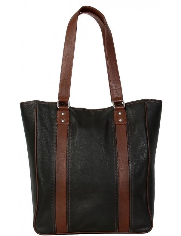 Hadaki - City Tote Bag in Black Leather