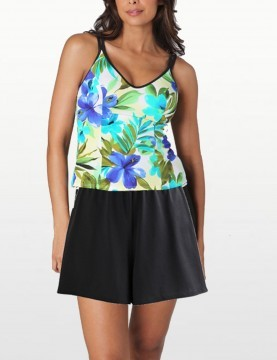 Miraclesuit - Tankini Top & Swim Skirt - Brazillian Sunrise