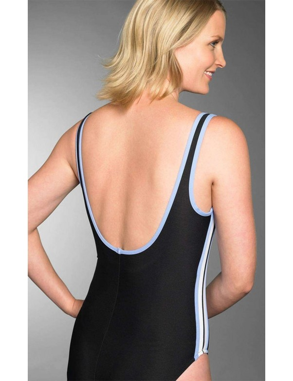 Miraclesuit - Delta One Piece Swimsuit - Size D and DD Black & Surf