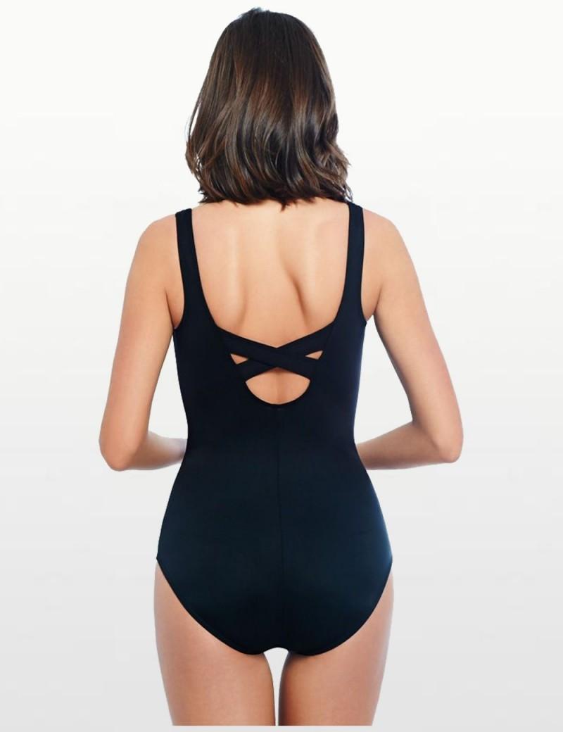 Miraclesuit - Debutante One Piece Swimsuit - Size US 16D Black