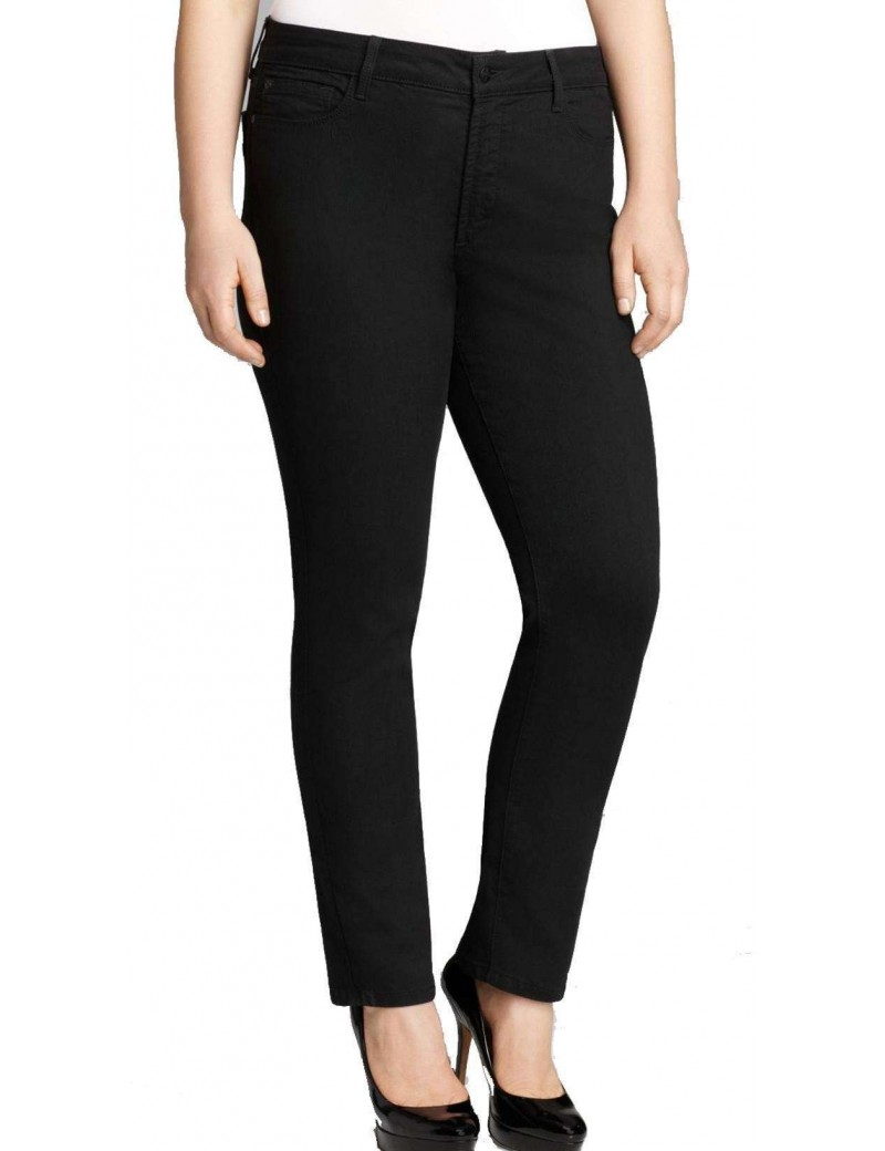 NYDJ - Sheri Skinny Jeans with Embroidered Leather Pockets