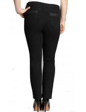 NYDJ - Sheri Skinny Jeans with Leather Pockets *MBQJ76EM3815