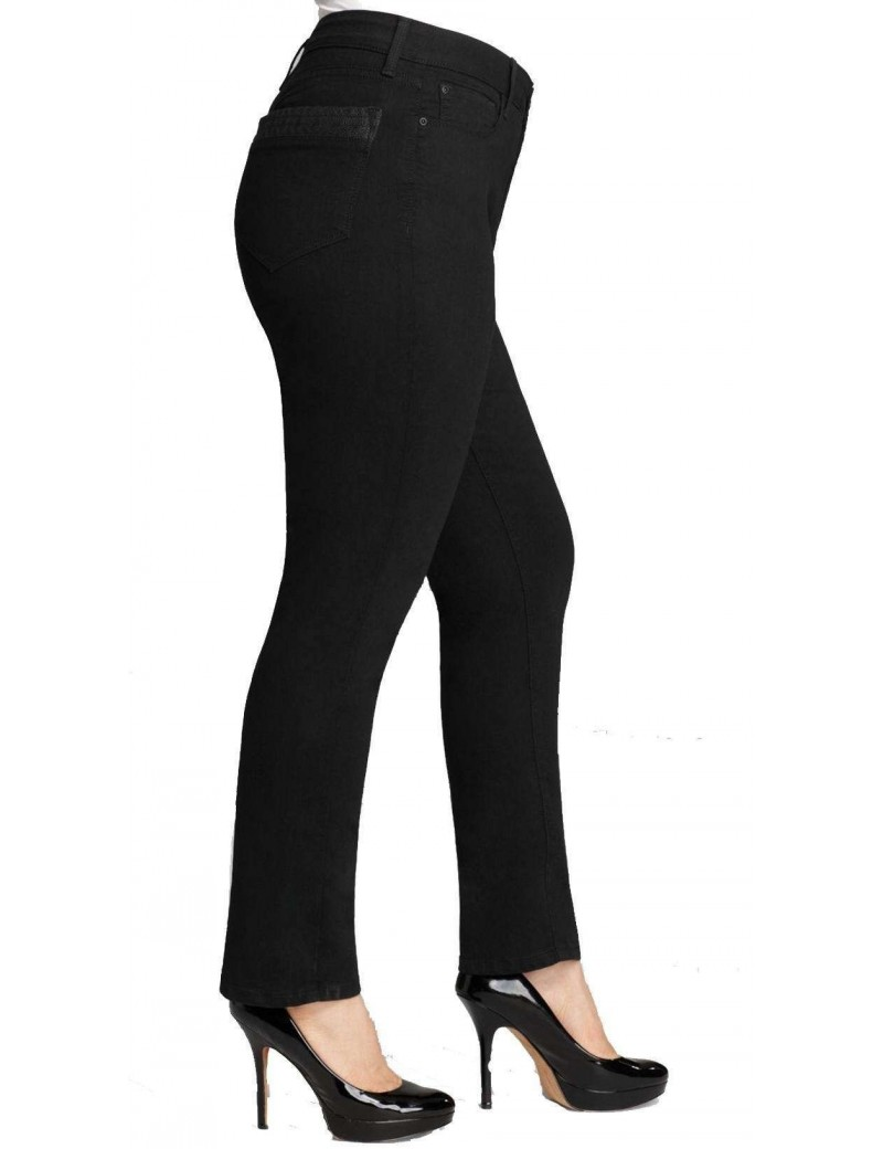 NYDJ - Sheri Skinny Jeans with Leather Pockets *MBQJ76EM3815