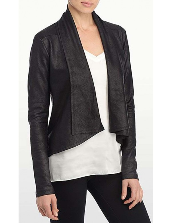 NYDJ - Black Coated French Terry Jacket