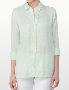 NYDJ - Long Sleeve Linen Shirt - Spearmint