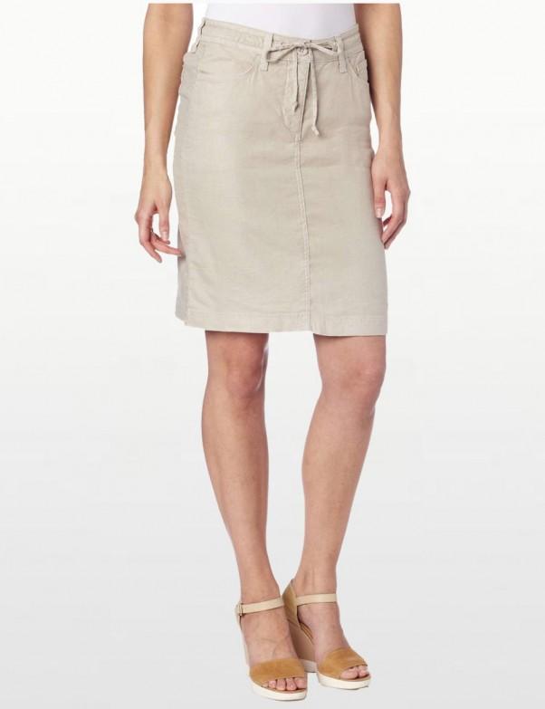 NYDJ - Lynette Linen Skirt - Stone *M58B13DT