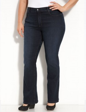 NYDJ - Plus Barbara Bootcut Jeans in Storm Wash with Embellished Jeans *W29232SO1009