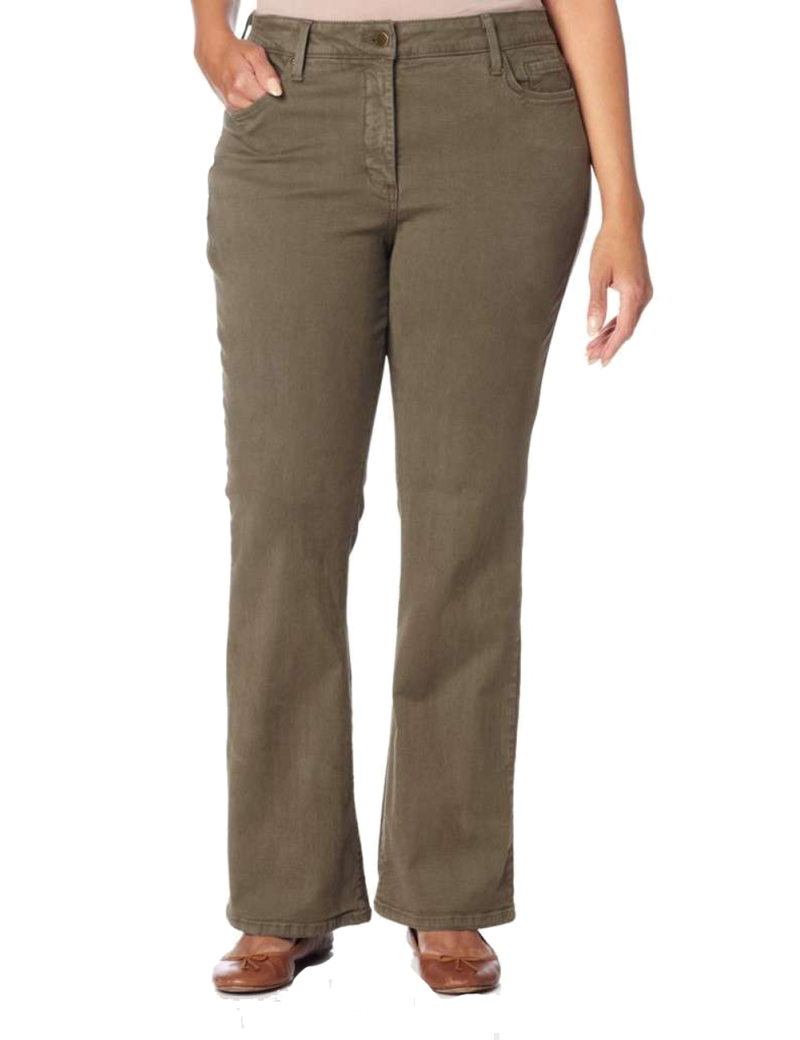 NYDJ - Marilyn Straight Leg Jeans in Sueded Denim - Spanish Moss