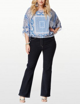 NYDJ - Barbara Bootcut Jeans in Blue Black Denim *w47232