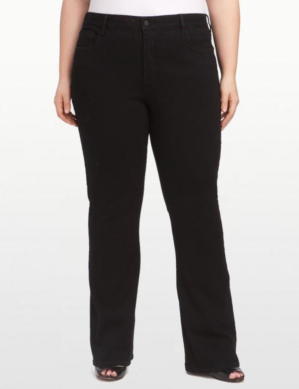 NYDJ - Plus Barbara Bootcut Jeans in Black Emb *w40232DT3392