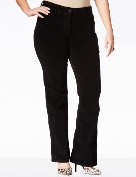 NYDJ - Plus Barbara Black Bootcut Corduroy Jeans *W60232DT