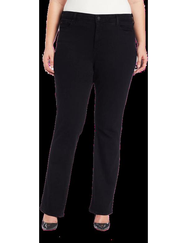 NYDJ - Barbara Bootcut Jeans in Black Sueded Denim *46C45DT3398