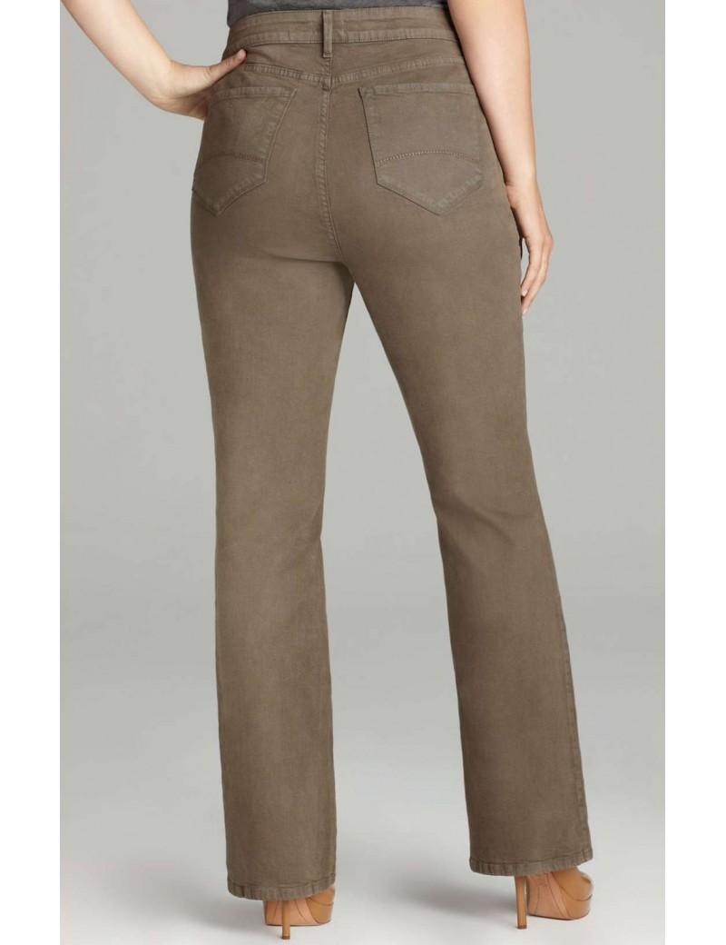 NYDJ - Plus Marilyn Straight Leg Jeans in Sueded Denim - Spanish Moss