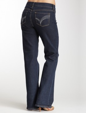 NYDJ - Sarah Bootcut Jeans in Blue Black with Embellished Pockets *J700T3135