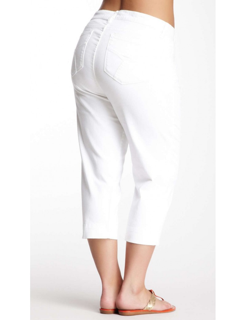 NYDJ - Plus Nicole Cropped Capri's - White *W55321T829