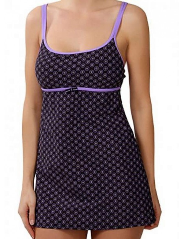 Nautica - Lavender Pebble Dot Swimdress
