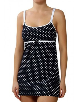 Nautica - Black Spotted Swimdress