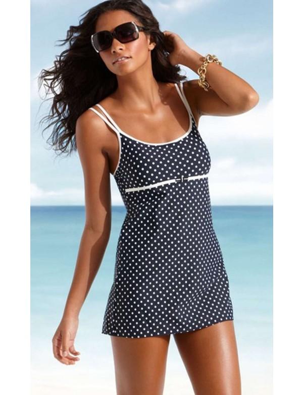 Nautica - Black Spotted Swimdress