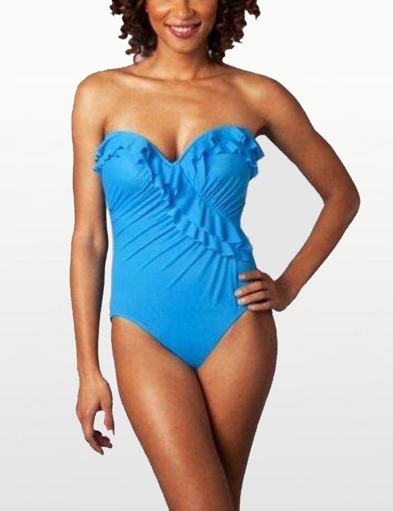 Miraclesuit - Flamenco Ruffle Swimsuit - Turquoise