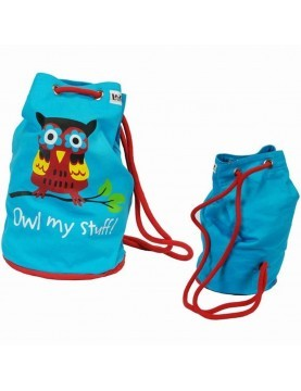 Lazy One - Blue Owl My Stuff Tote Bag