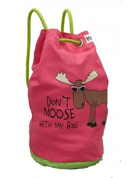Lazy One - Pink Dont Moose with Me Tote Bag
