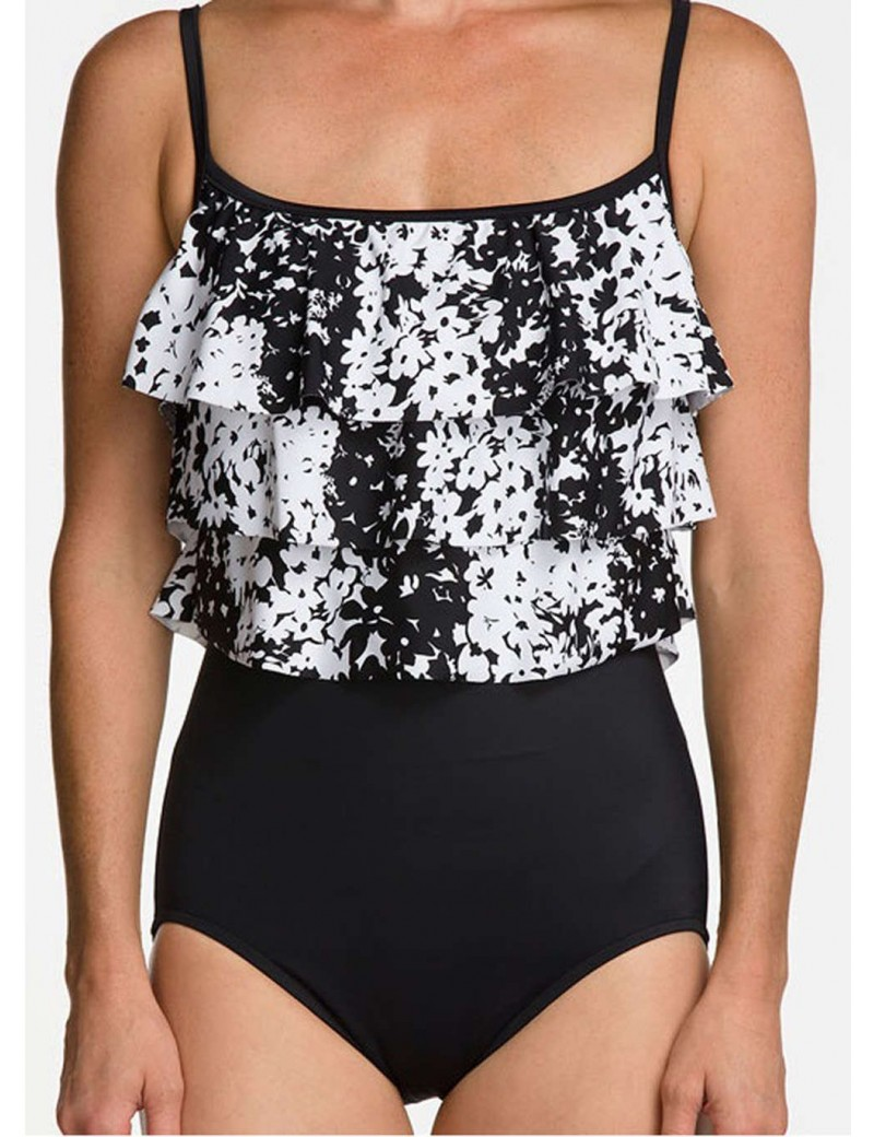 Rose Marie Reid - Graphic Nature Triple Tier One Piece Swimsuit