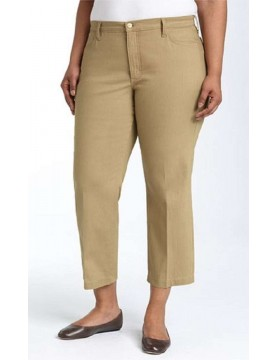 NYDJ - Plus Audrey Ankle Pants in Desert Sand or White * w2165