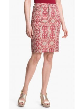 NYDJ - Emma Twill Pencil Skirt - Tribal Print *M30B06DTP101