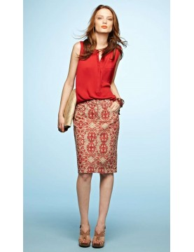 NYDJ - Emma Pencil Skirt in Tribal Print *M30B06DTP101