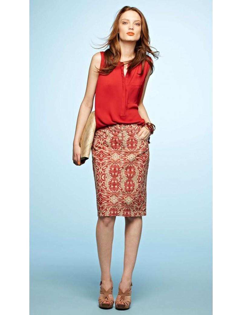 NYDJ - Emma Pencil Skirt in Tribal Print *M30B06DTP101