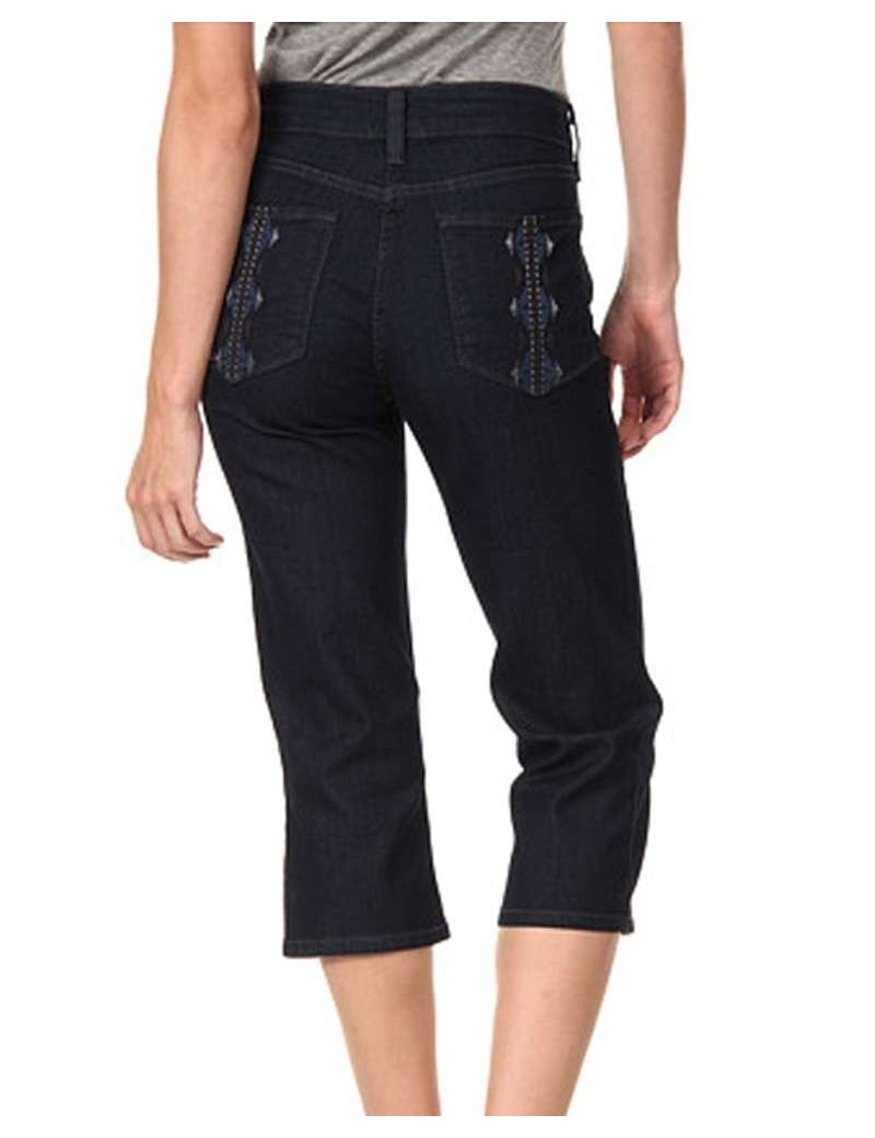 NYDJ - Ariel Dark Wash Capri's with Embellished *10368U3321
