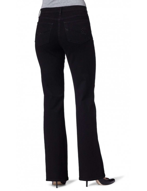 NYDJ - Sarah Bootcut Jeans in Black with Embellished Pockets *P700odt321 - Petites