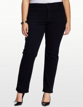 NYDJ - Hayden Straight Leg Jeans in Black - Plus *W4063B