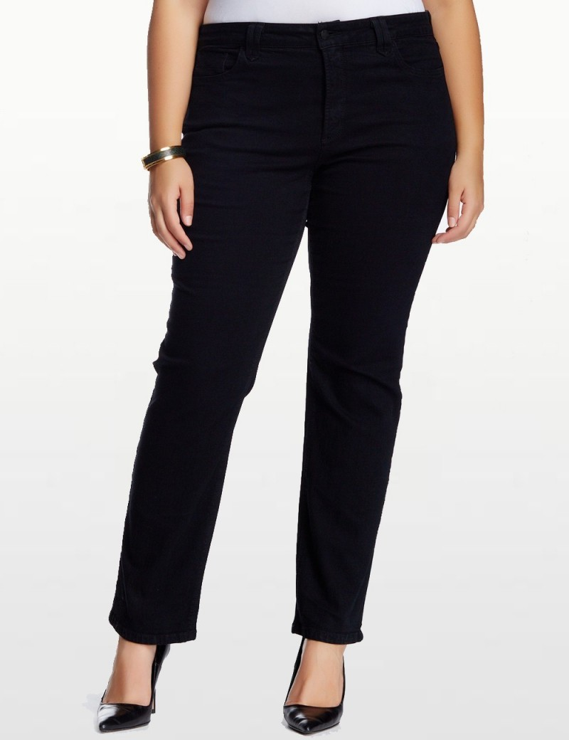 NYDJ - Plus Hayden Black Straight Leg Jeans *W4063