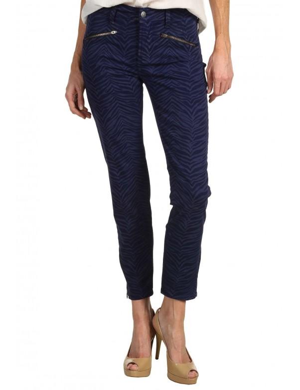 NYDJ - Angelina Zebra Print Leggings - Cadet Blue *30929DTP96