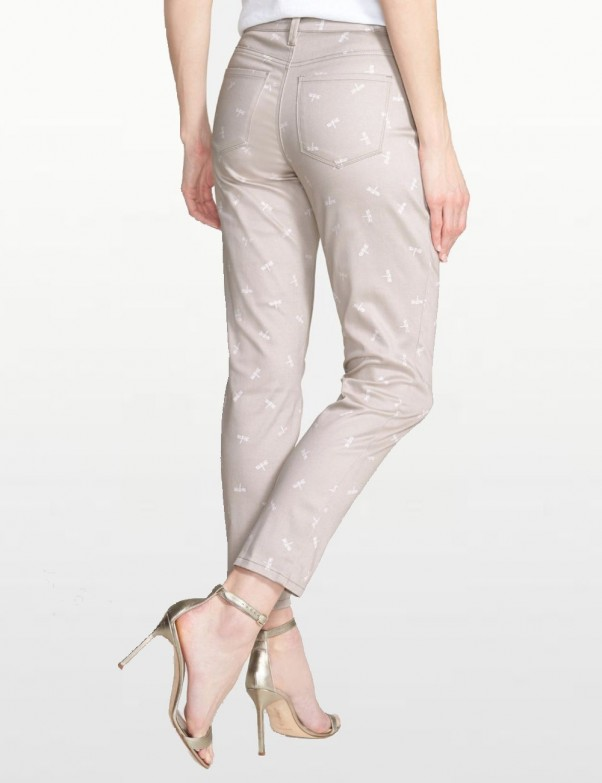 Clarissa Stretch Ankle Pants in Dragonfly Print *MORN54P324