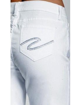 NYDJ - Marilyn White Straight Leg Jeans with Rhinestones *55227T3006