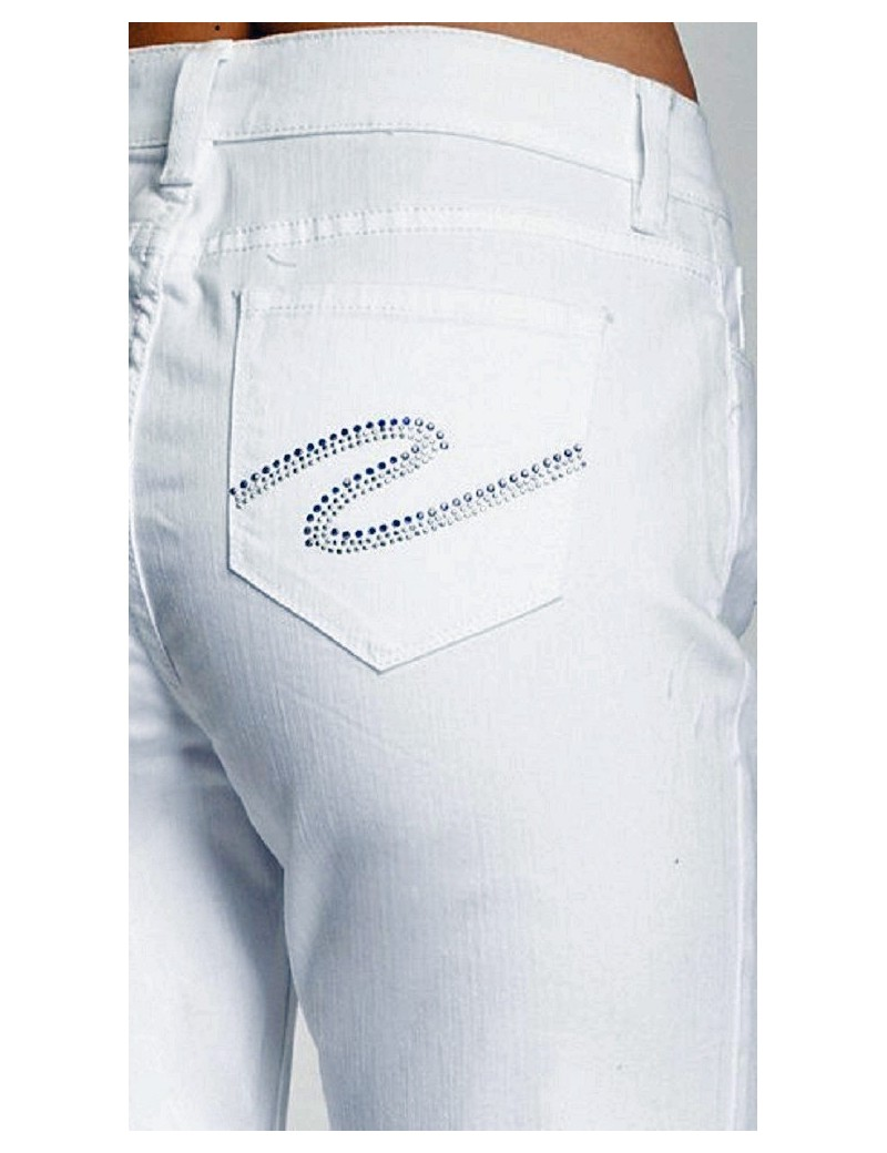 NYDJ - Marilyn White Straight Leg Jeans with Rhinestones *55227T3006