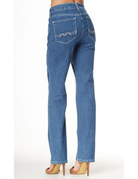 NYDJ - Marilyn Straight Leg Jeans in Maryland Wash with Bling *10227MY3834