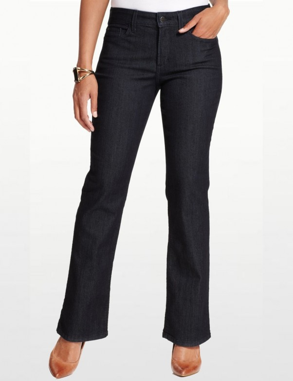 NYDJ - Barbara Bootcut Jeans in Dark Wash with Embellished Pockets*10232G3223