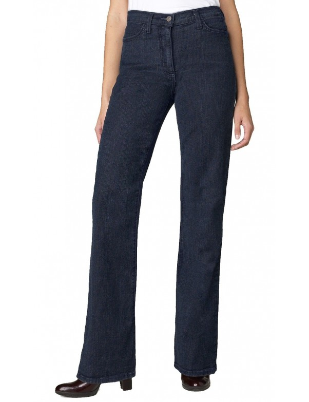 NYDJ - Marilyn Blue Black Straight Leg Jeans with Embellishments *70227G1069