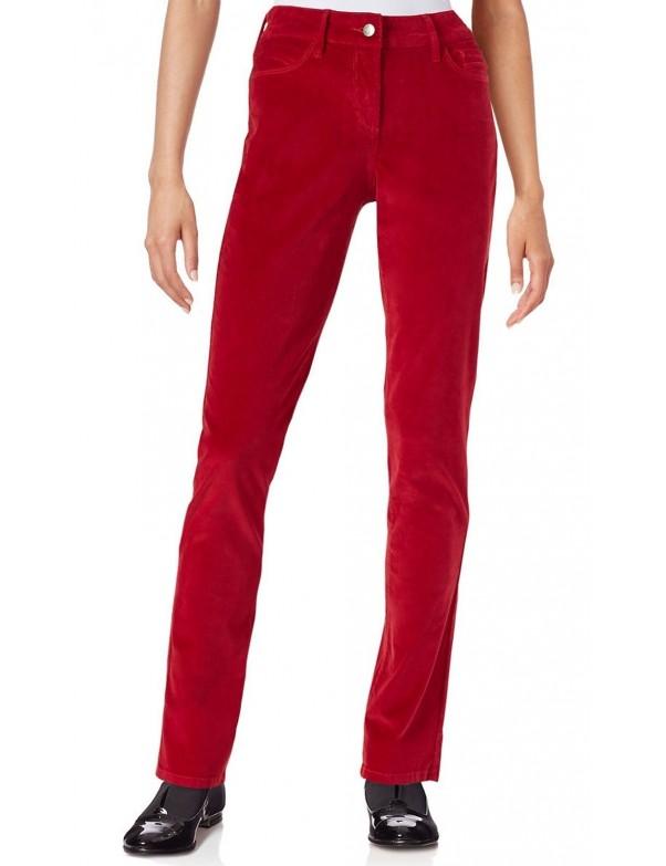 NYDJ - Samantha Slim Leg Corduroy Jeans in Red *M13Z1081