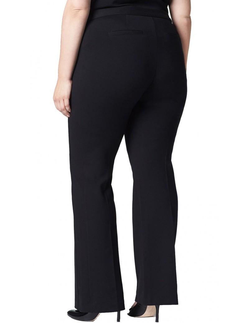 NYDJ - Plus Black Ponte Knit Bootcut Trousers *WS1104F019