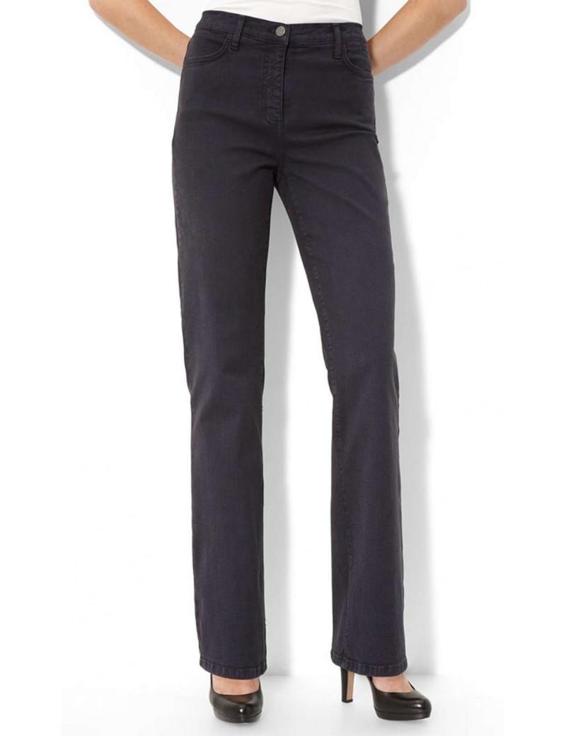 NYDJ - Marilyn Dark Grey Sueded Straight Leg Jeans *4631ODT