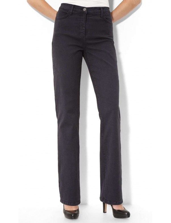 NYDJ - Marilyn Dark Grey Sueded Straight Leg Jeans *4631ODT