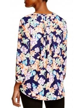 NYDJ - Floral Georgette Shirt in Harlequin  *S01081F059