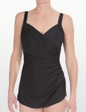 Miraclesuit - Allura Black Swimdress Swimsuit