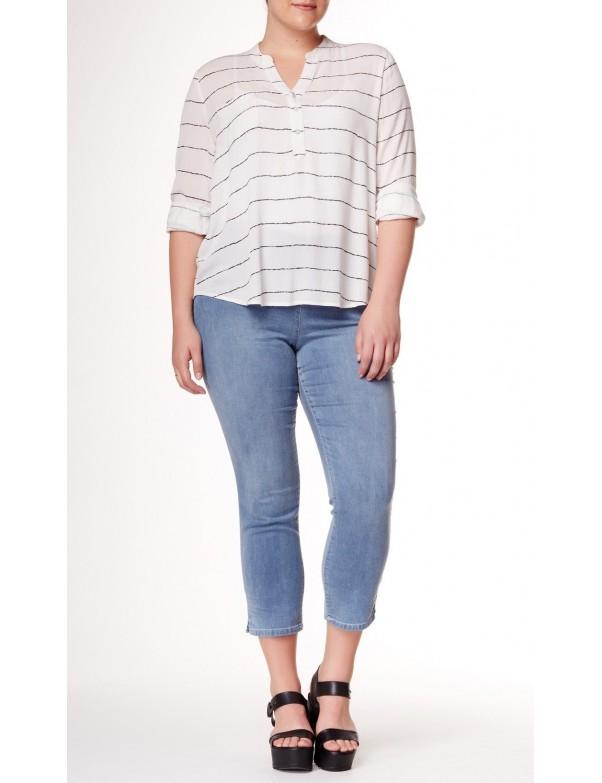 NYDJ - Plus Minnie Knit Ankle Pants in Peninsula Wash *WNGI42PX